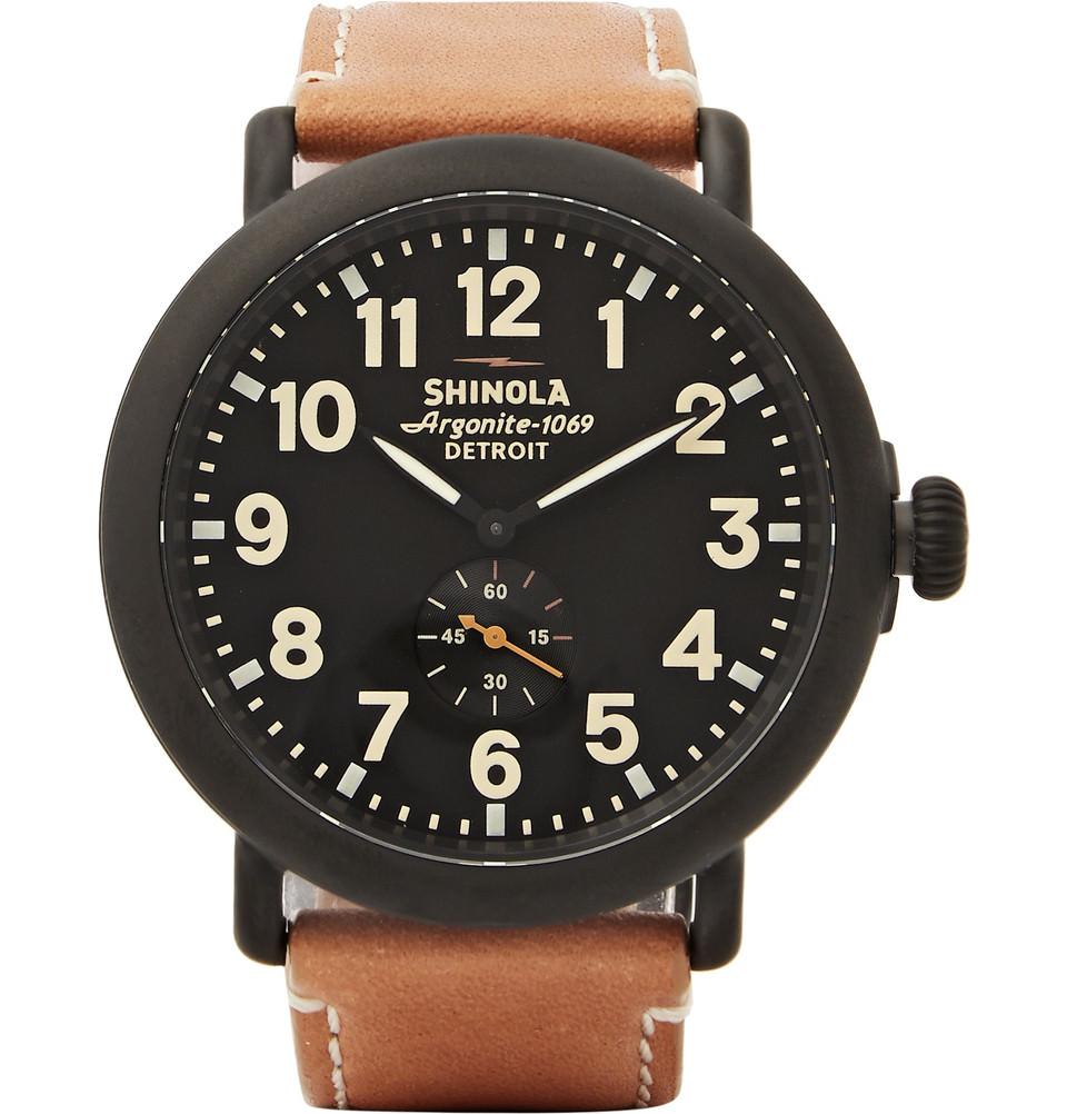 montre shinola Runwell detroit noir