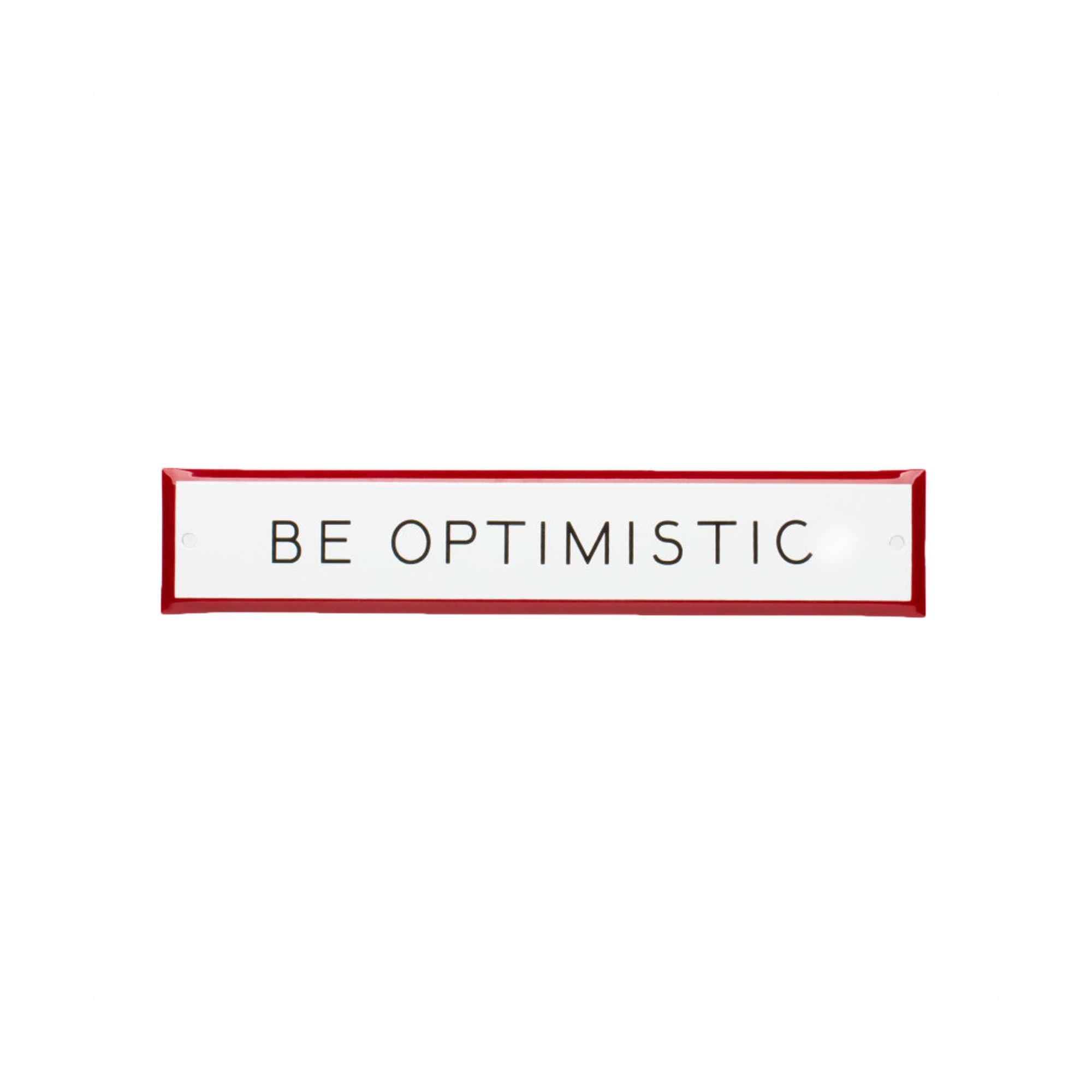panneau be optimistic