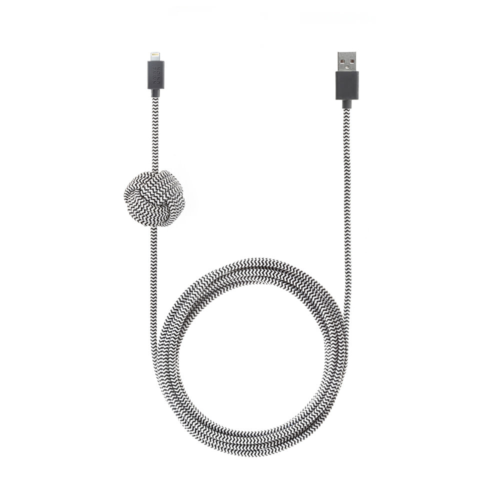 cable iphone night lightning cable zebra native union