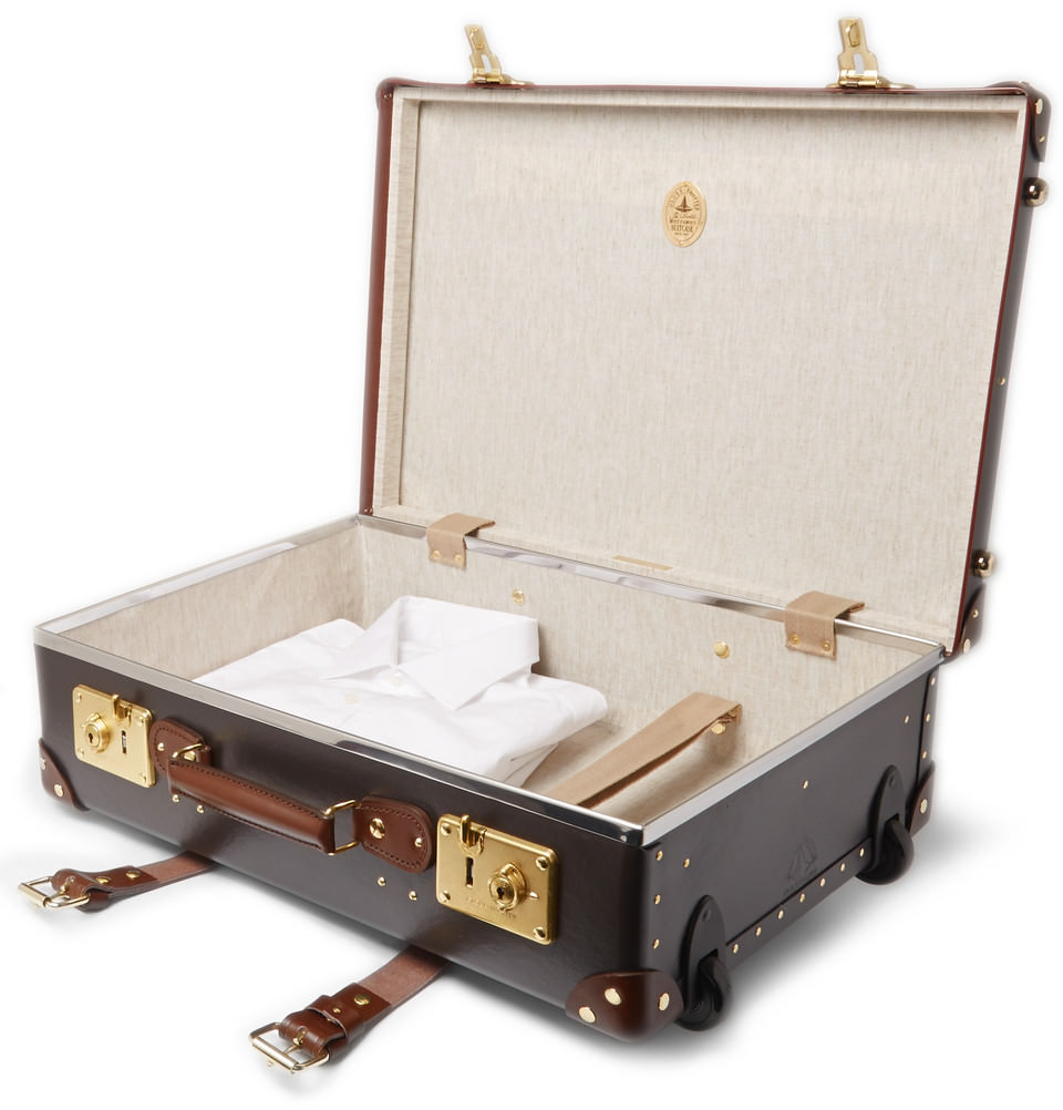 valise globe trotter roulettes ouverte
